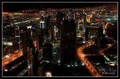 Desert Miracle (night version) (:Mustafa Idris:) Tags: eye birds buildings downtown dubai view top united uae east khalifa arab tall middle burj emirated