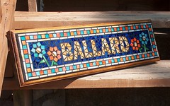 Mosaic Outdoor Sign (beaded glass) Tags: sign plaque garden outdoor mosaic