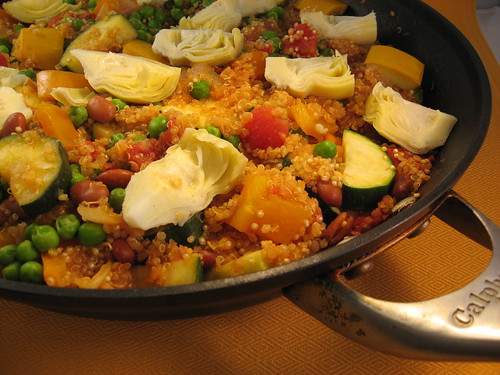 Quinoa and vegetable paella 017