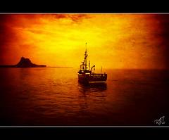 Lindisfarne (rjt208) Tags: northumberland lindisfarne boat island castle fishing texture rjt208 mygearandme holyisland talismanii talisman
