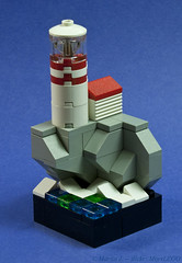 Lighthouse on the Bluff (MorsLEGO) Tags: lighthouse lego mini micro microscale