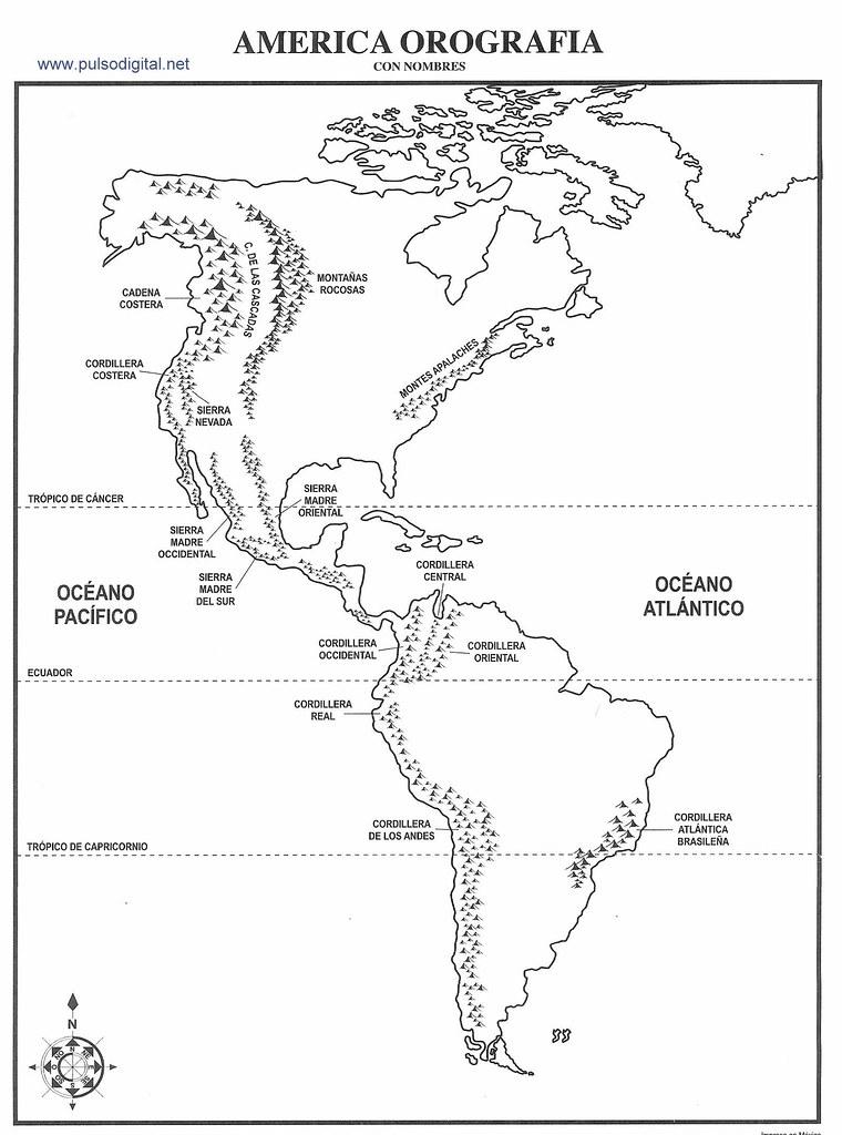 Mapa de América del Norte con división política sin nombres ...