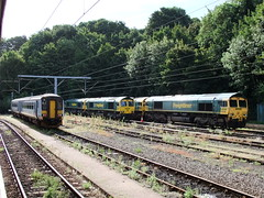 156419 66954 66593 66504 66556 Ipswich 29th August 2011 (Cooperail) Tags: uk england station electric train one suffolk br diesel great shed engine railway 360 august 321 66 east national emu locomotive express eur eastern 70 90 essex ecr ipswich 170 intercity 156 anglia ger 153 freightliner lner dmu 2011 anglian nxea