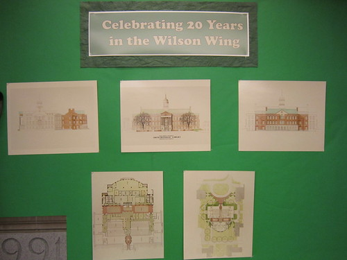 20 years in the ZSR Library Wilson Wing exhibit