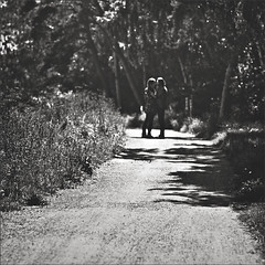 """She loves him more than he'll ever know. He loves her more then he'll ever show."" (www.juliadavilalampe.com) Tags: trees white black love blancoynegro beach blackwhite couple rboles pareja amor schweden playa scene moment liebe suecia robado"