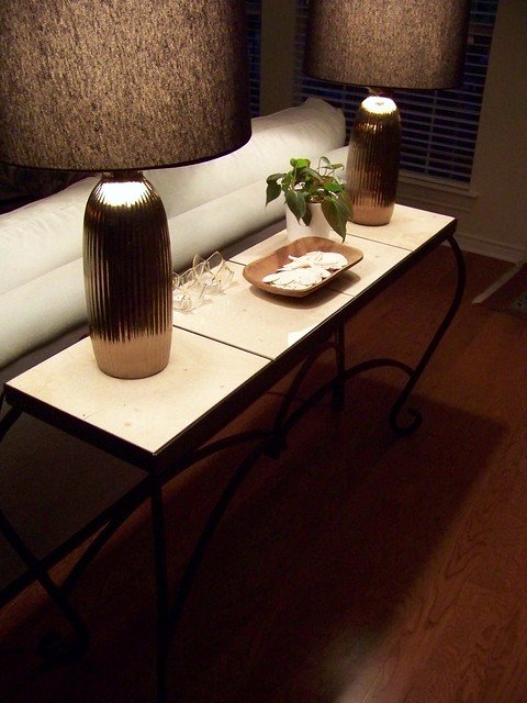 table at night