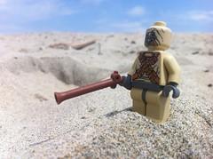 Tusken Raider (Kyle Hardisty) Tags: riot lego apocalypse halo vietnam tusken huey stormtrooper shield reach m16 nam apoc spartans raider sandtrooper tantooine