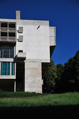 Le Corbusier with Iannis Xenakis, Monastery of Sainte-Marie de La Tourette (neil mp) Tags: blue shadow summer sky holiday france grass architecture modern concrete dominican lyon modernism monastery lecorbusier convent priory brutalism summerholiday latourette saintemarie modernmovement eveux reinforcedconcrete larbresle xenakis btonbrut iannisxenakis veux neilmp metastaseis