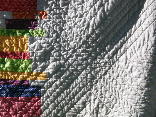 Color Burst Quilt (back detail)