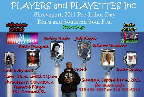 Blues & Southern Soul in Shreveport on Sun, Sept 4 by trudeau