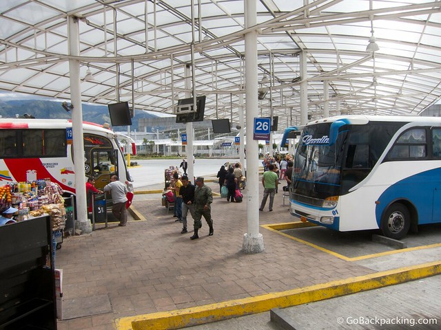 Quito's new, modern Southern bus terminal
