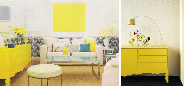 Yellow IKEA Sideboard