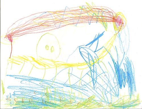 Crayon Drawing, Asher's Art, 4.5 Years