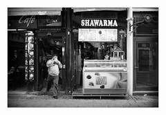 Shawarma (The Peace Frog) Tags: street bw film zeiss copenhagen denmark 50mm delta contax 400 analogue rts ilford shawarma f17
