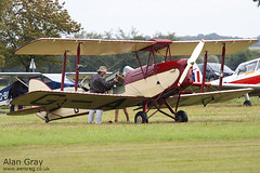 G-AOJK DE HAVILLAND DH.82A TIGER 82813 - 110828 - Little Gransden - Alan Gray - IMG_0666