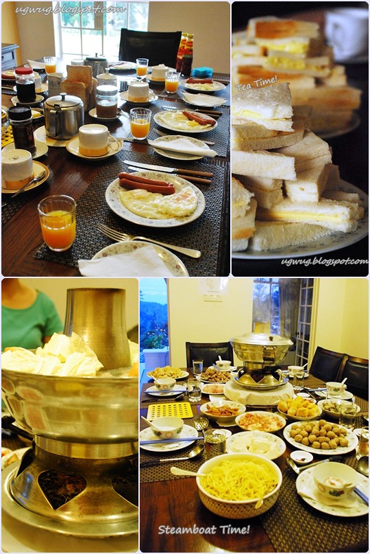 Breakfast, Tea Time, Steamboat Dinner