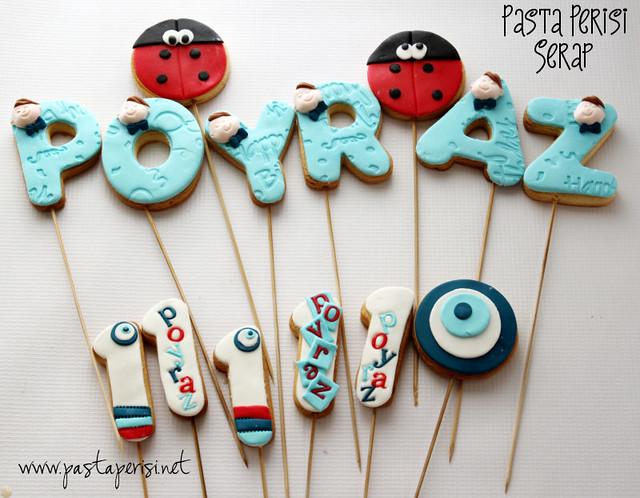 Doğum günü kurabiyeleri- POYRAZ