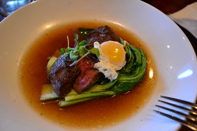 Steak Egg Duck Broth