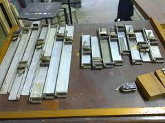 ESDI: composing room (Catherine Dixon) Tags: brazil rio metal de janeiro room type stick letterpress moveis esdi composing tipos 2011 moveable