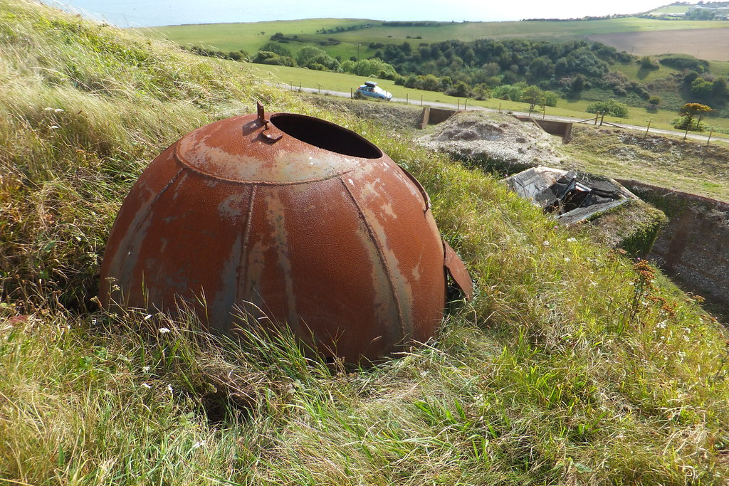 "Alan Williams Turret Allan-Williams Turret"" at Bembridge Fort, Isle of Wight in 2011"