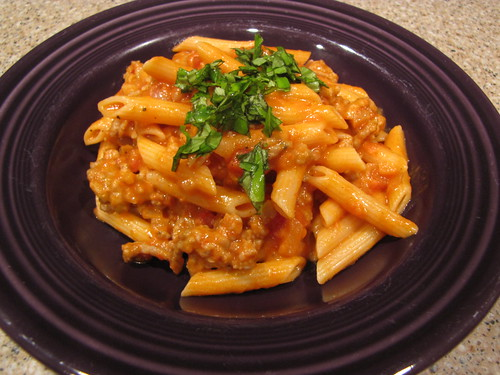 Penne with Italian Sausage Vodka Sauce - Idiot's Kitchen