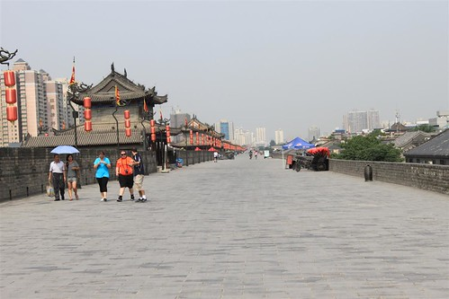 Xi'an wall covers 13.7km in length with 12 meters tall in China