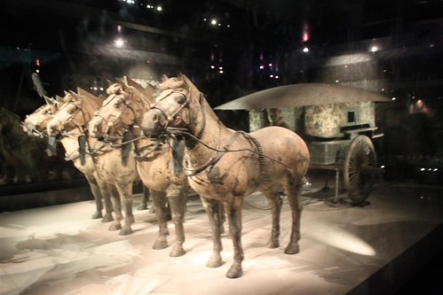 The restored No. 2 Chariot at Pit No. 2 at Museum of Qin Terra-cotta Warriors and Horses, Xi'an, China