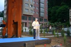 X. Aniversario del asesinato de Migue Angel Blanco. Carlos Totorika raelizando su discurso
