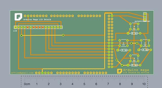 Artduino Mega LCD Shield_pcb