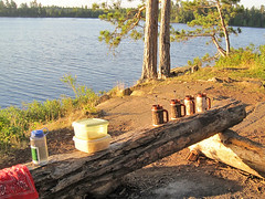 Morning in the Boundary Waters - sent to us by Katie from her canoe trip in the Minnesota Boundary Waters Canoe Area Wilderness