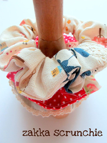 zakka-style scrunchie
