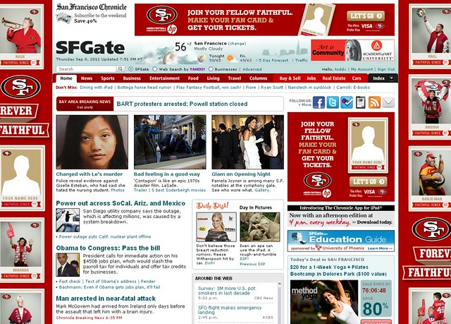 SF Gate home page hideousness
