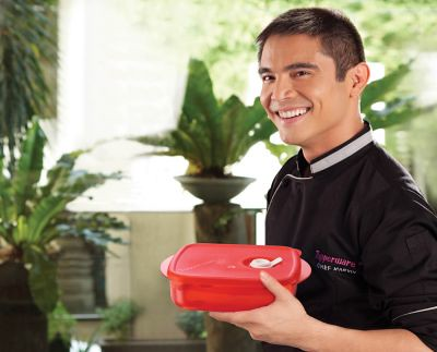 Marvin Agustin with Kitchen Gourmet