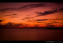 Burning Skies (Jack Wassell) Tags: ocean longexposure pink sunset red sea sky orange hot water beautiful clouds fire pretty burning stratfordct nd110filter