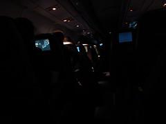 Lufthansa Night Shot On-Board