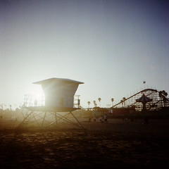remembering summer. (diyosa) Tags: film 4 kodak100uc santacruzbeachboardwalk rolleiflex35f eventhoughitwasntallthatsummery mostofthesummer andsummerisntreallyover iguessitisformykidssincetheyrebackinschoolnow