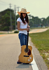 at the crossroads (Laurarama) Tags: portrait girl hat nikon guitar gap americana cowgirl crossroads sept americangirl odc ohbrotherwhereartthou gettycollection 105mm25ai d7000 flowersonit devilatthecrossroads collectionp