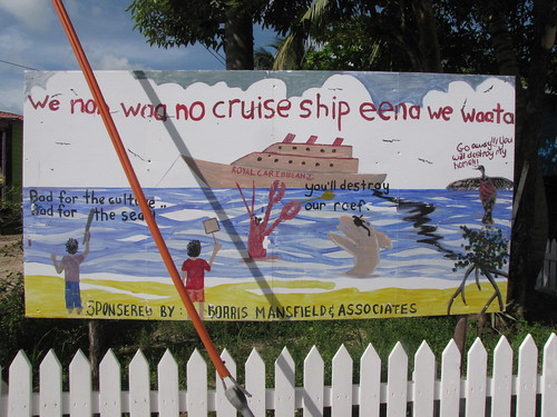 sign in Placencia, Belize