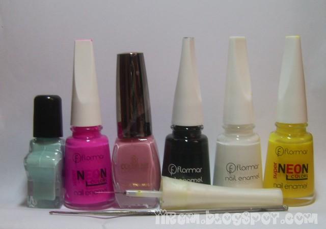 Soldan sağa : Franke , Flormar N008, Color Me , Flormar 313 - 310 - N006