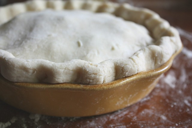 Pie, ready for the oven