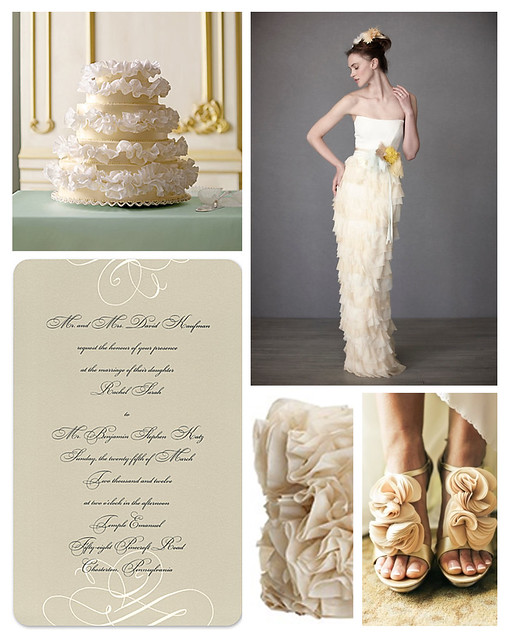 Ruffled Wedding Details