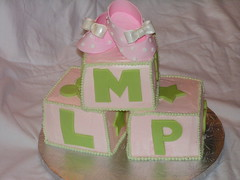 Block Baby Shower Cake