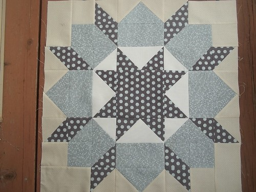 2nd Swoon block with Hometown by Sweetwater fabrics