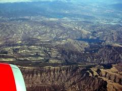 Hills Near Goleta and Santa Barbara (klvinci) Tags: california vacation santabarbara disneyland aerialview hills strata goleta 2011 virginamerica img0745a