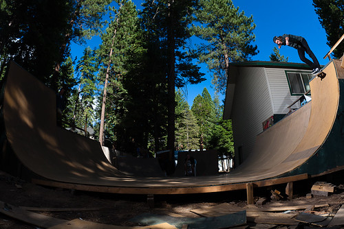 backyard half pipe skate ramp design that actually looks cool http