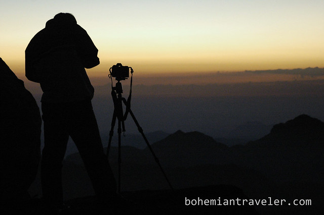 Travel Photo Roulette: Before sunrise at Mount Sinai. Copyright by BohemianTraveler.com