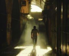 Into the Dust Devils (David Mor) Tags: morning light summer mystery alley veil jerusalem story beginning dust sunray sunbeams ending
