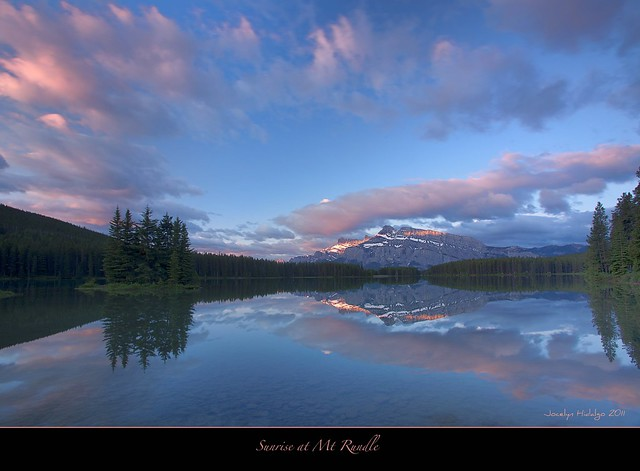 Sunrise at Two Jack Lake-Banff National Park
