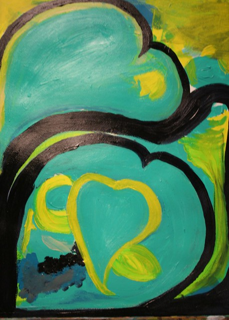 Open Heart Fearless painting