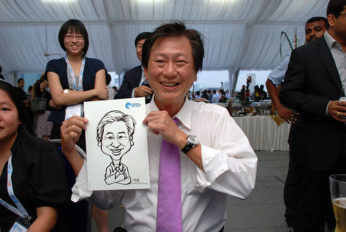 caricature live sketching for Singapore International Water Week Closing Dinner - 3